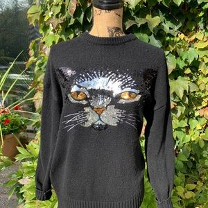 CAT SWEATER THAT STARES DIRECTLY INTO YOUR SOUL